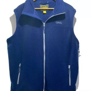 NWT Cabela's Snake Blue Fleece Sleeveless Vest XLT